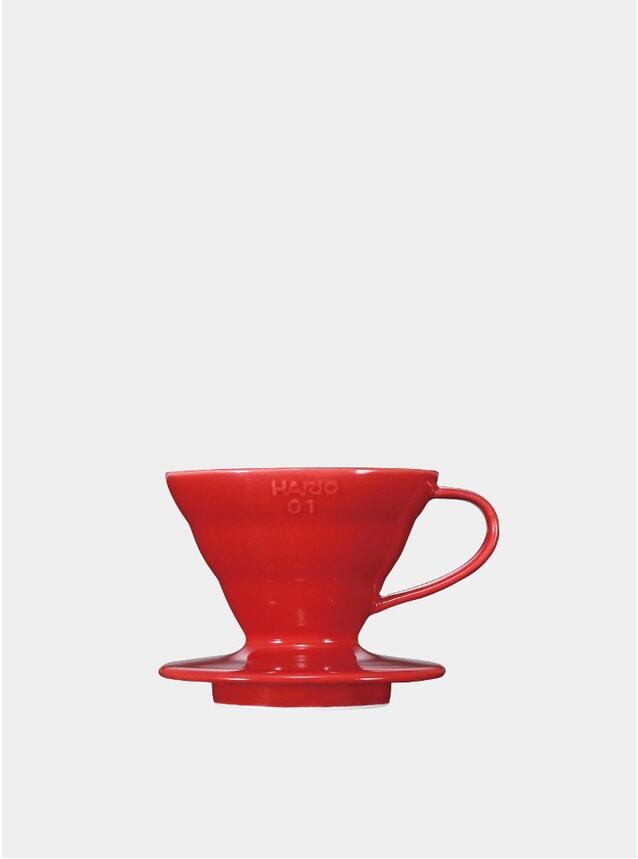 Red V60 Ceramic Coffee Dripper
