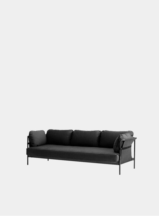 Black Three Seater Can Sofa