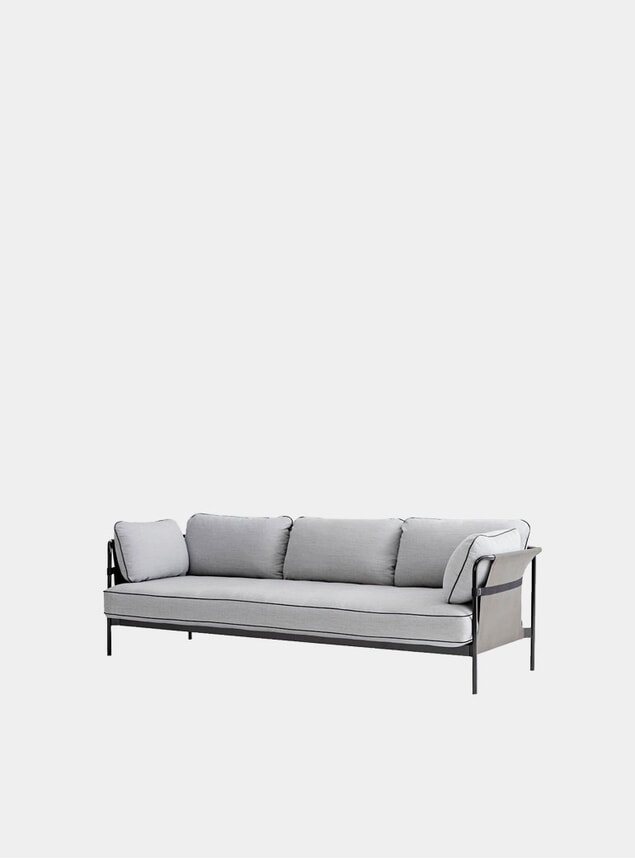 Grey Can Three Seater Can Sofa