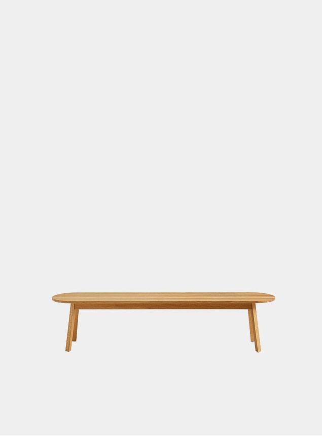 Oiled Oak Triangle Leg Bench