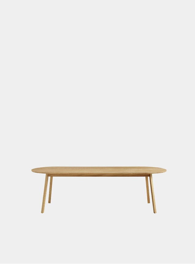 Oiled Oak Triangle Leg Dining Table