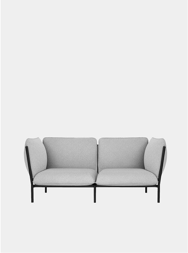 Grey Modular 2-Seater Sofa