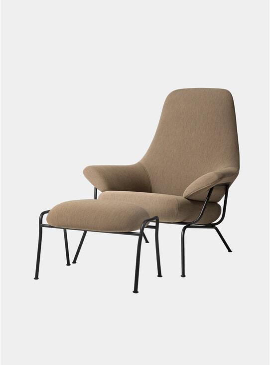 Liquorice Hai Chair & Ottoman