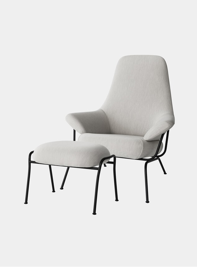 Shell Hai Chair & Ottoman
