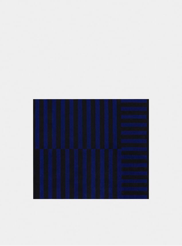 Cobalt Large Stripe Rug