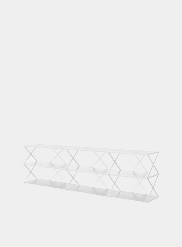 White Lift 9 Solid Ash Wall Shelf
