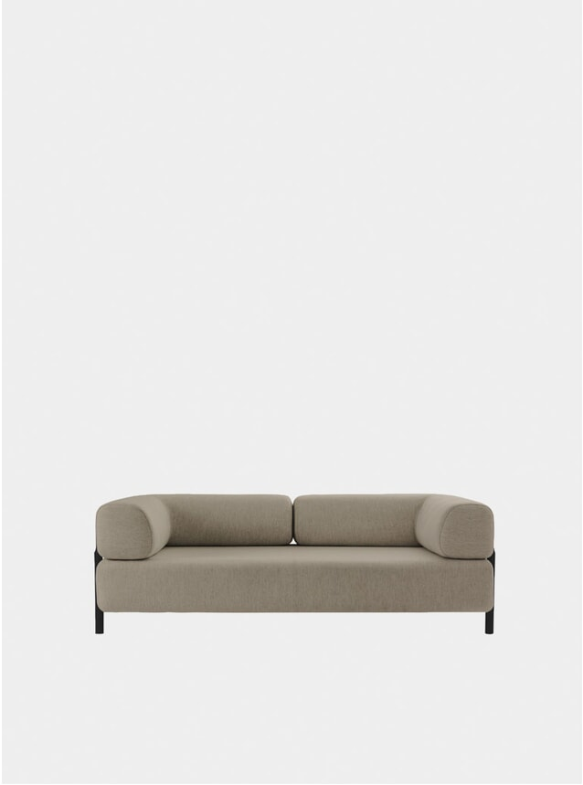 Beige Palo Two Seater Sofa + Armrest