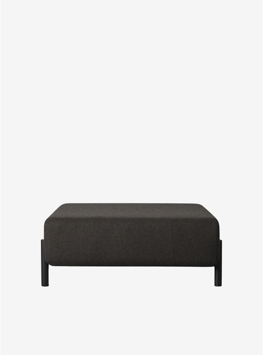 Black / Brown Palo Ottoman