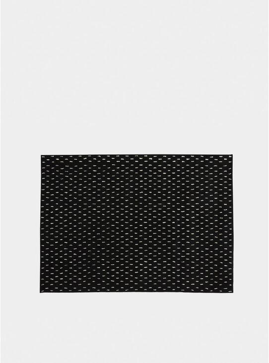 Black / Ivory Rain Rug