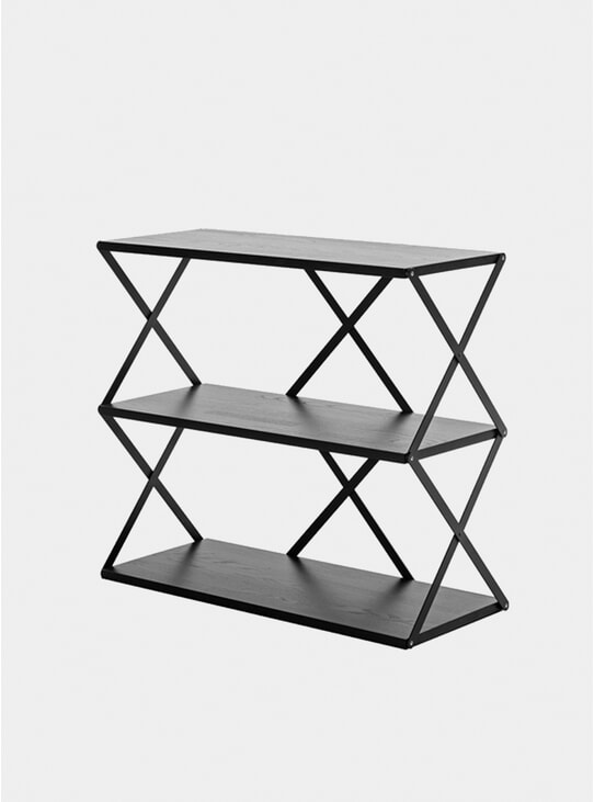 Black Lift 3 Wall Shelf