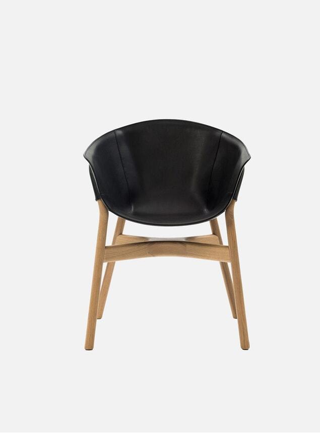 Black / Oak Pocket Armchair