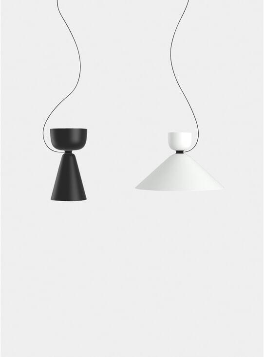Black / White Alphabeta Duet Pendant
