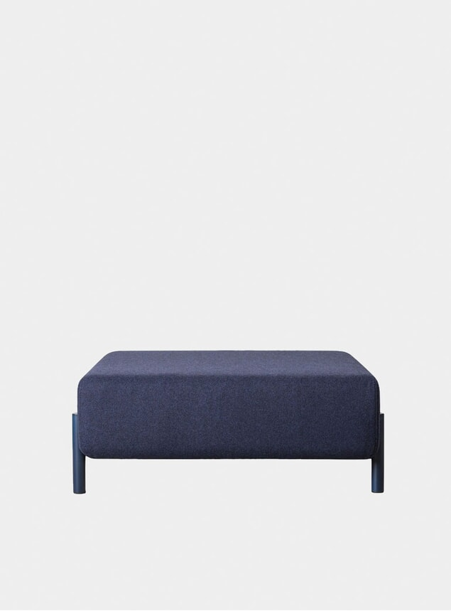 Blue Palo Ottoman