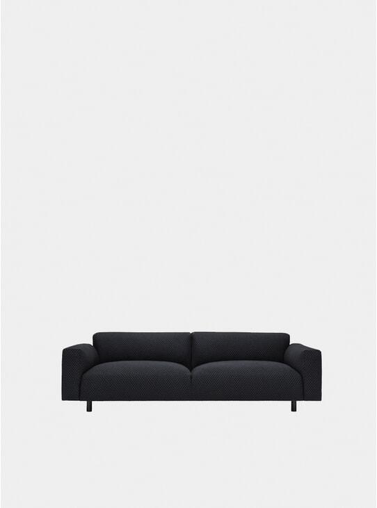Charcoal Koti Three Seater Sofa