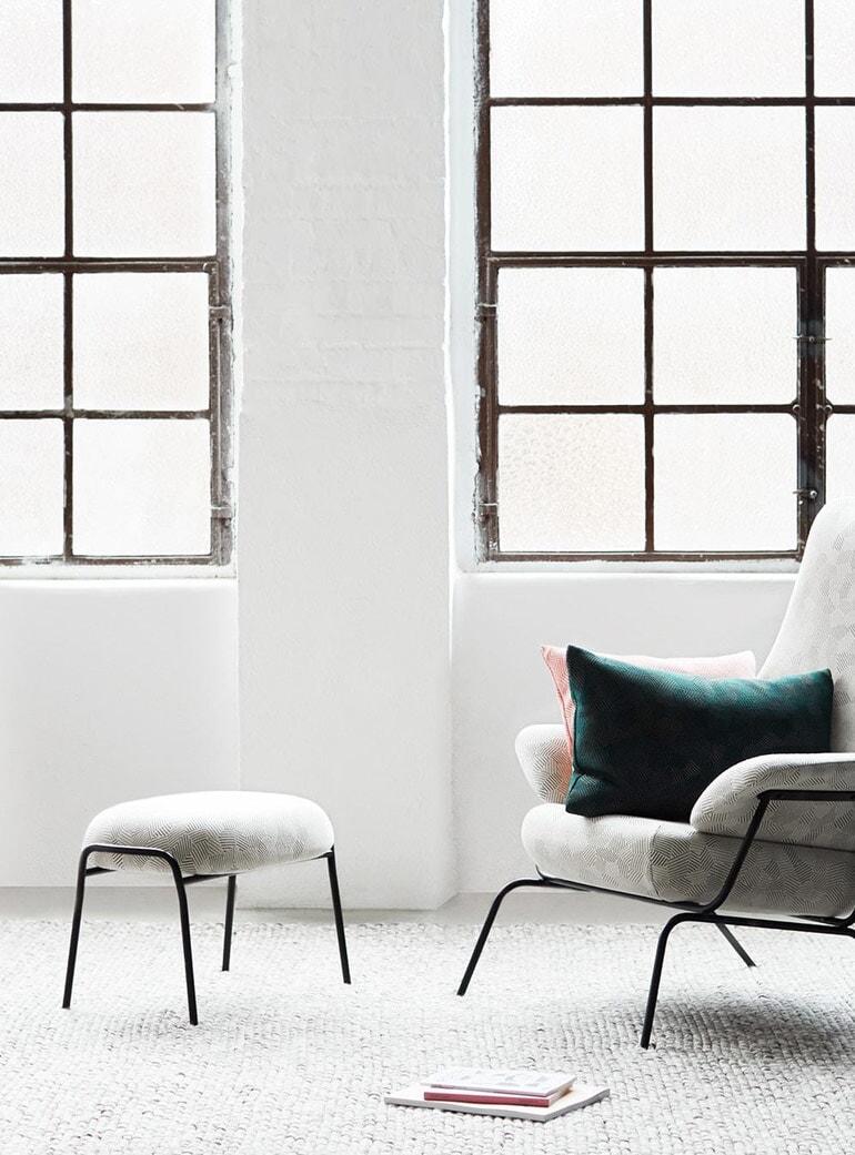 Enjoyable Charcoal Mosaic Ottoman Machost Co Dining Chair Design Ideas Machostcouk