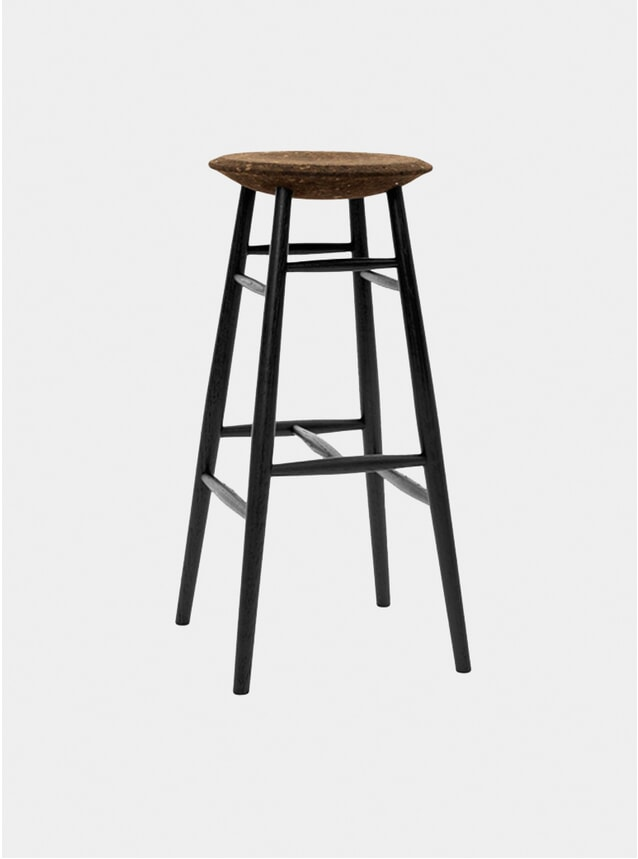 Dark Cork / Black Drifted Bar Stool