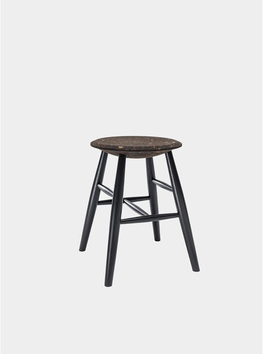 Dark Cork / Black Drifted Stool