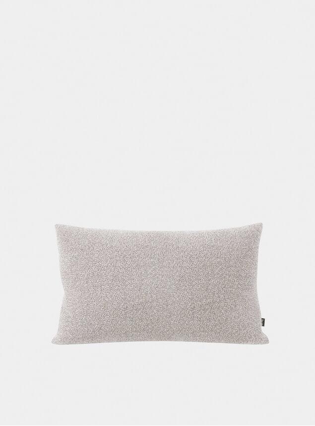 Grey Melange Large Cushion