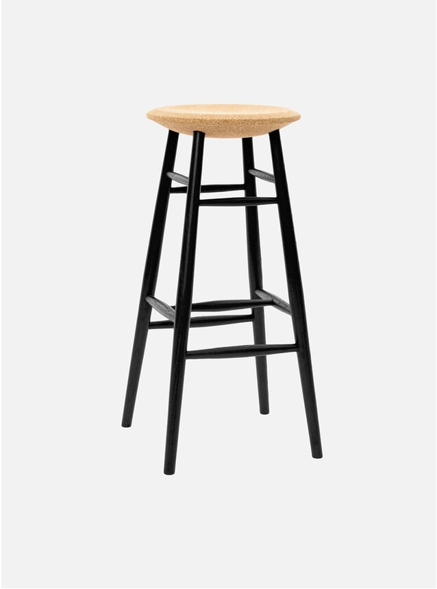 Light Cork / Black Drifted Bar Stool