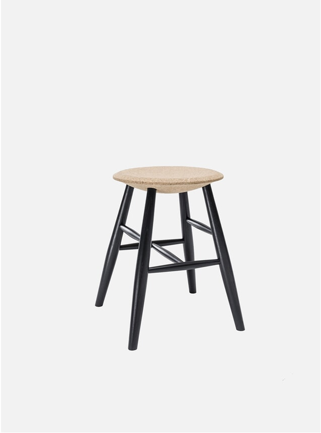 Light Cork / Black Drifted Stool
