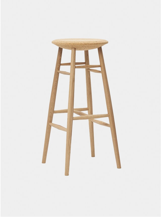 Light Cork / Oak Drifted Bar Stool