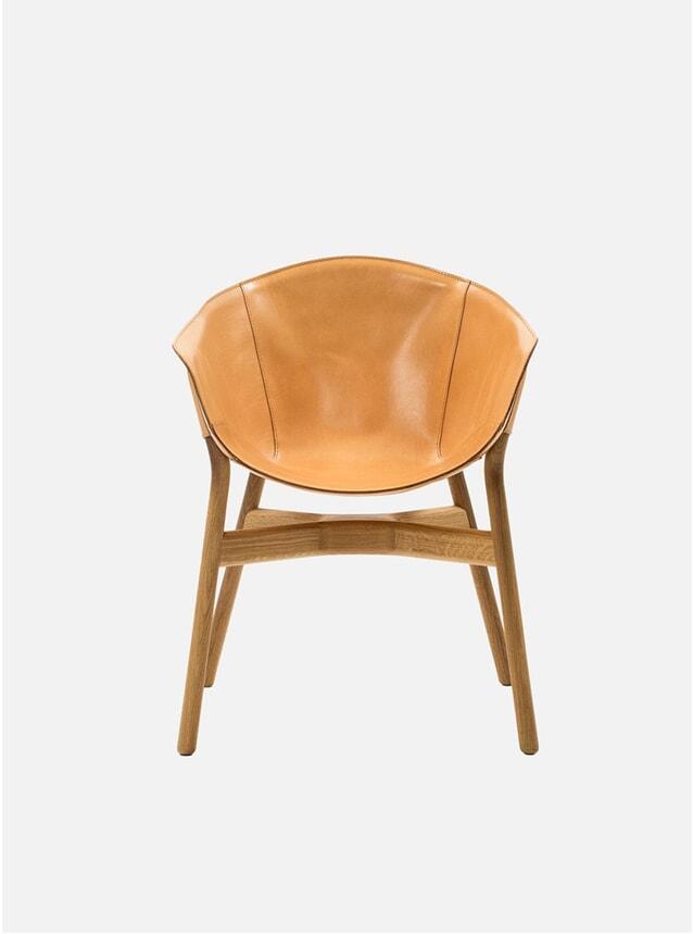 Natural Oak / Leather Pocket Armchair