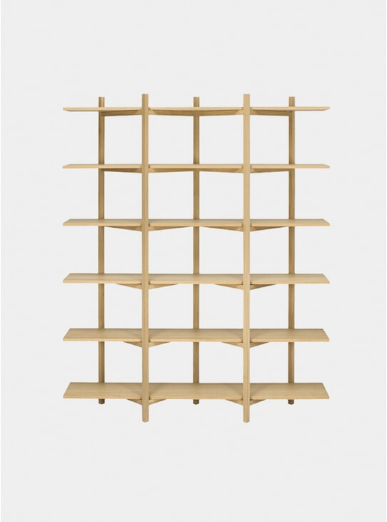 Oak High Zig Zag Shelf