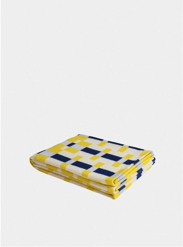 Yellow / Blue Square Throw