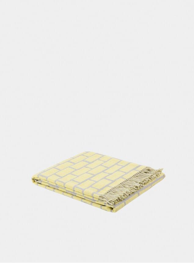 Yellow / Grey Brick Throw