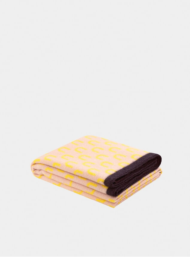 Yellow / Pink Arch Throw