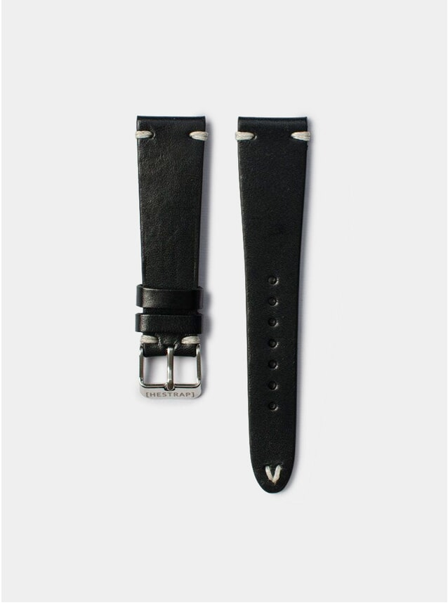 Black Zico Leather Watch Strap