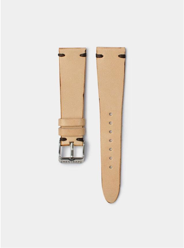 Brown Stitch Natural Senna Leather Watch Strap