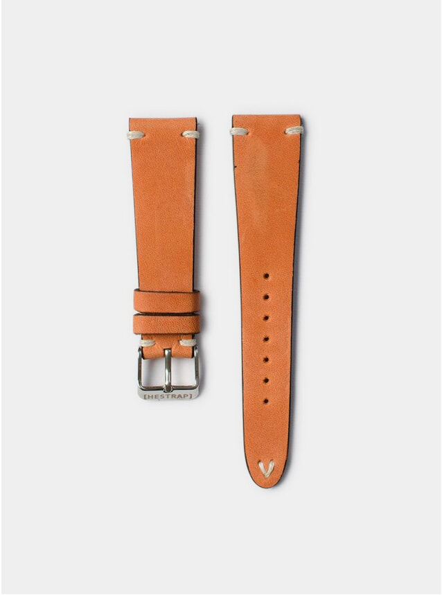 Coral Zico Leather Watch Strap