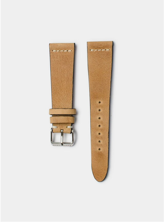 Camel Pippen Leather Watch Strap