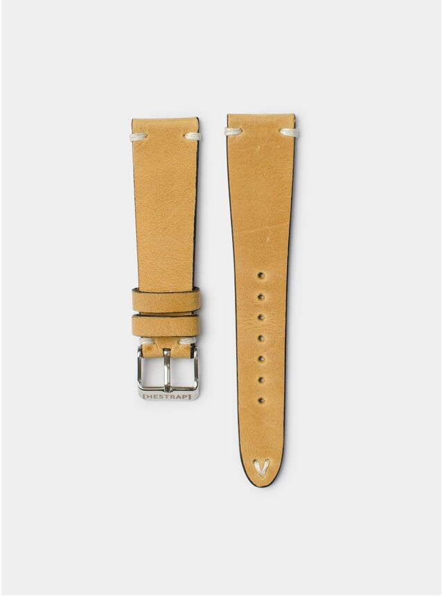 Mustard Zico Leather Watch Strap