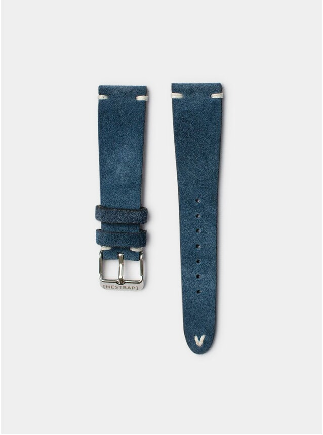 Navy Zico Suede Watch Strap