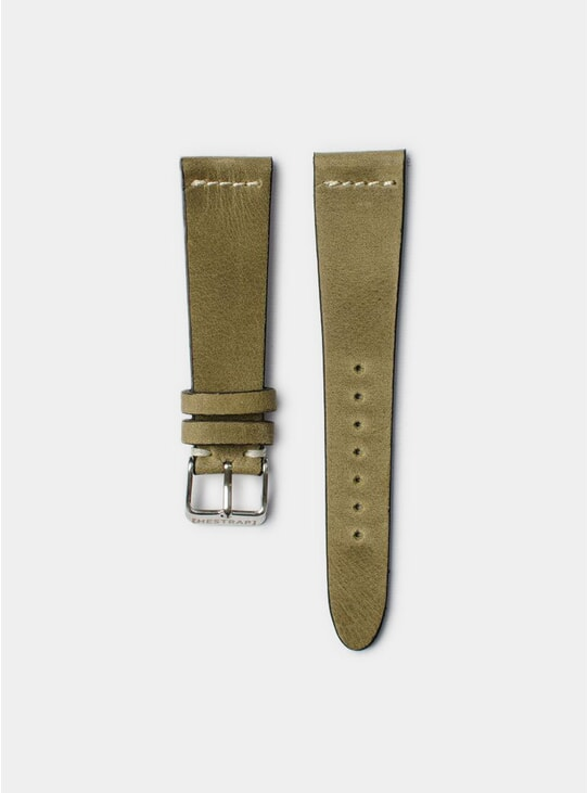 Olive Pippen Leather Watch Strap