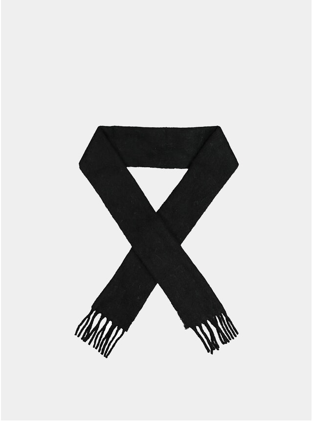 Black Aster Solid Scarf