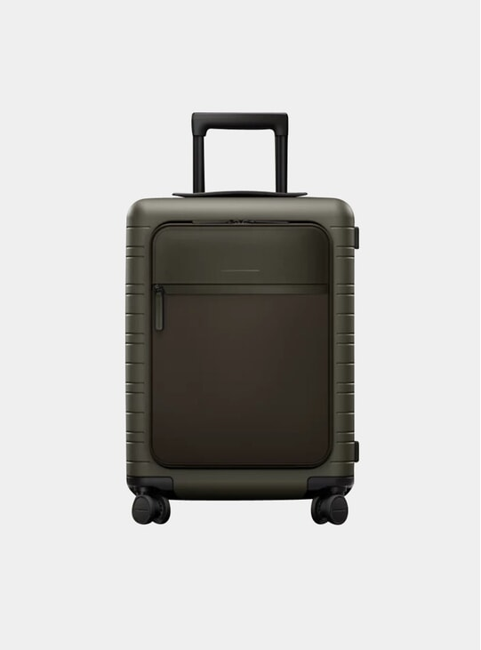 Olive / Multi Shell Model M5 Suitcase