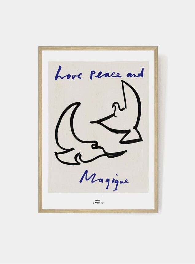 Love Peace and Magique Print