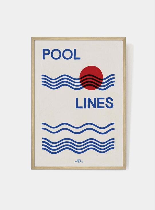 Pool Lines Art Print