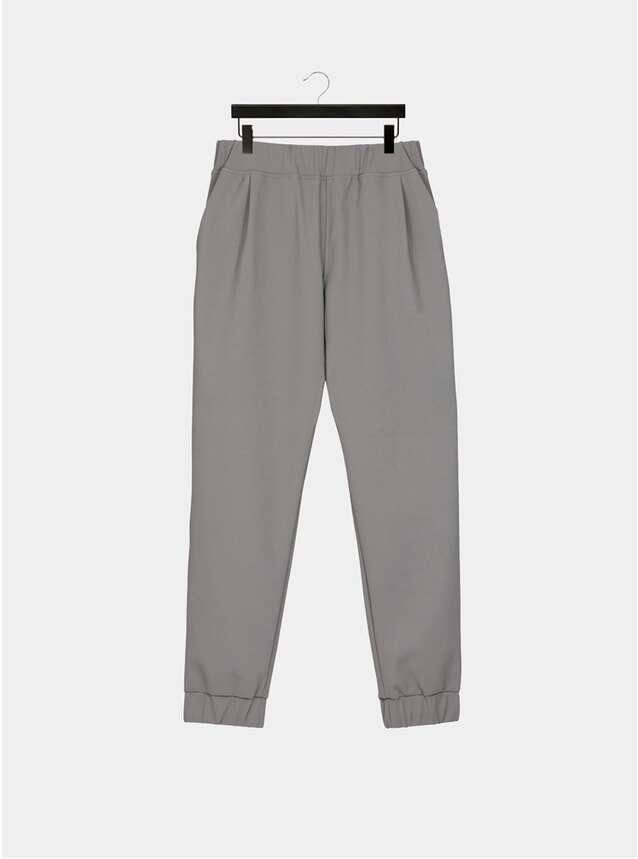 Warm Grey Pleated Luxury Joggers