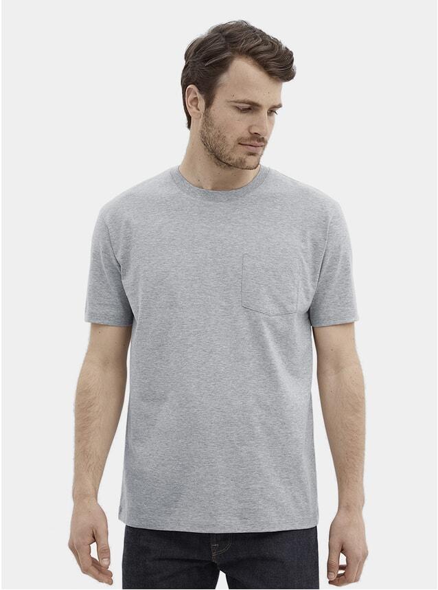 Grey Melange Pocket T Shirt