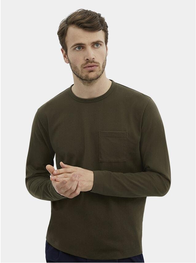 Olive HW L/S Pocket T Shirt