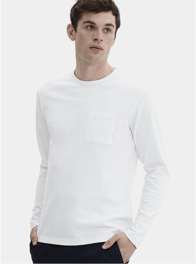 White HW L/S Pocket T Shirt