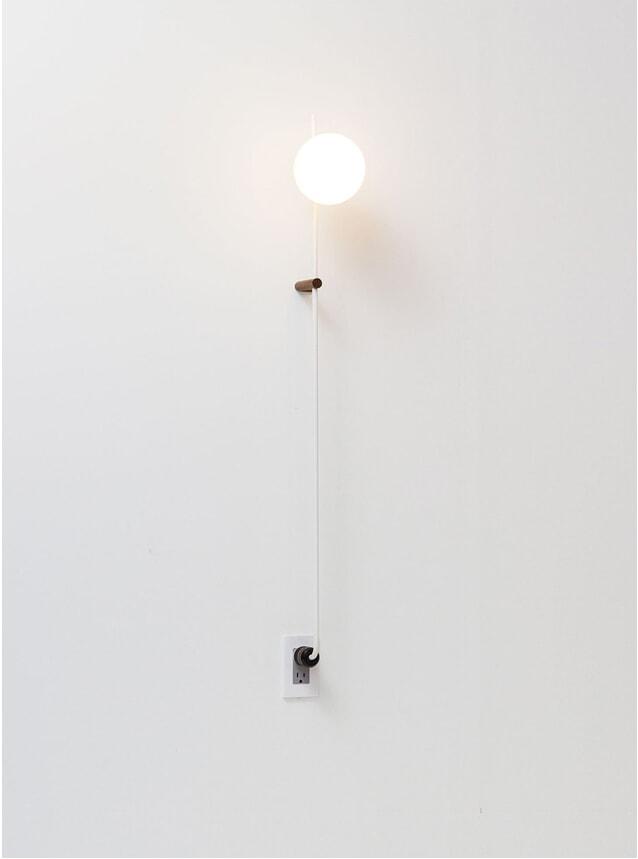 "40"" White Lynea Plug Lamp"