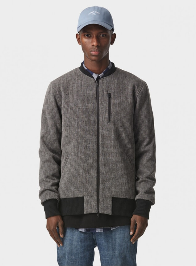 Charcoal Oakland Bomber