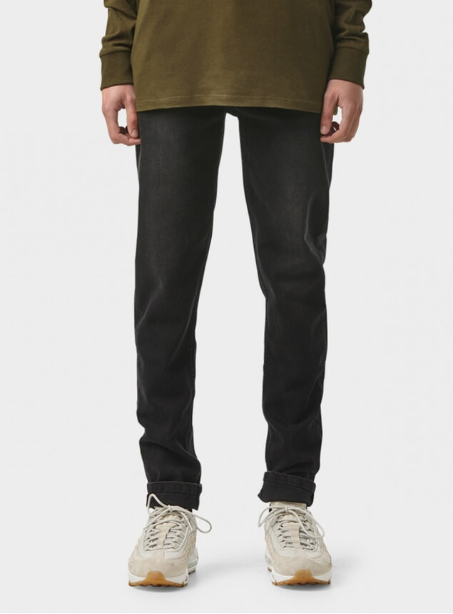 Washed Black Tapered Pant