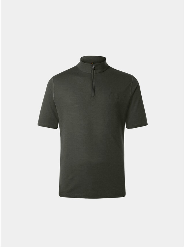 Fir Green Sidmouth Half Zip Top