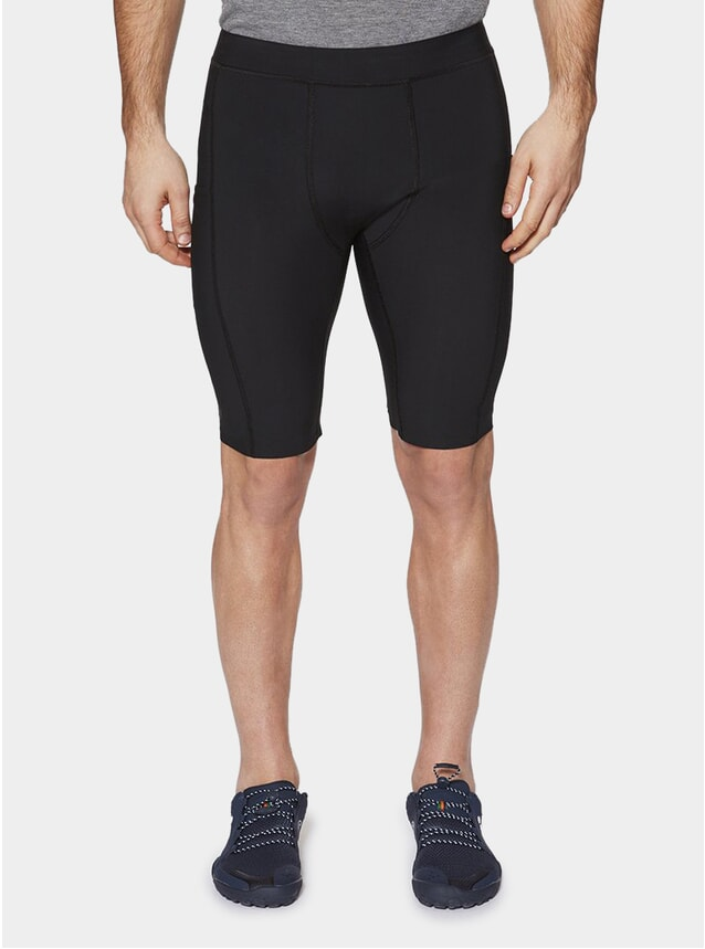 "Gravel Black Chester 10"" Compression Shorts"
